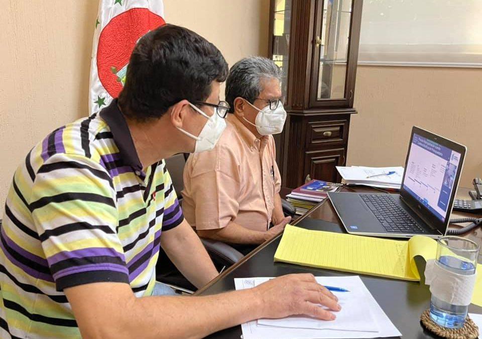 GOBERNADOR REALIZA REUNIÓN VIRTUAL CON AUTORIDADES DE SEGEPLAN Y MINISTERIO DE FINANZAS